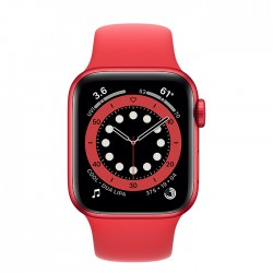 Apple Watch Series 6 44mm Red Aluminum Case with Red Sport Band (M00M3)