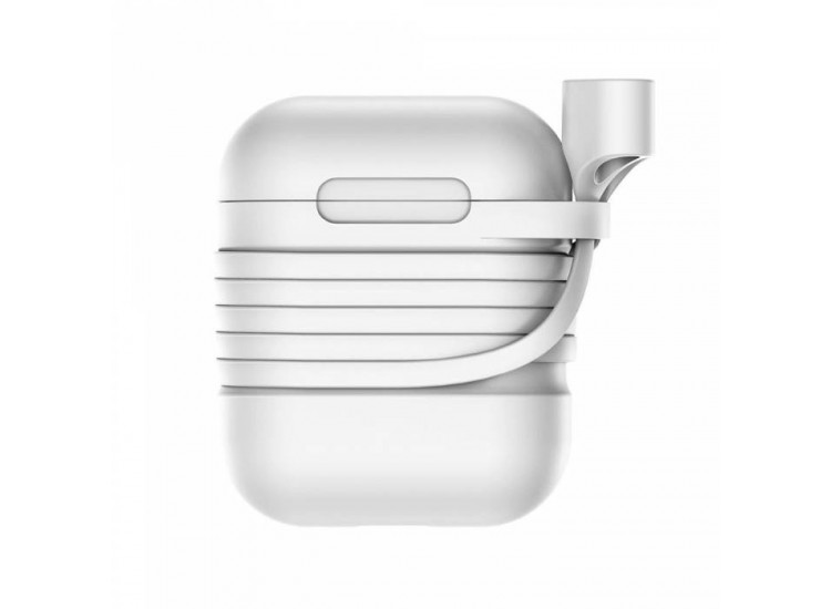 Baseus Silicone Case для Apple AirPods (White)