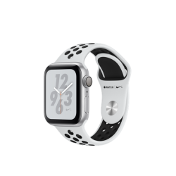 Apple Watch Series 4 Nike+ 40mm GPS Silver Aluminum Case with Pure Platinum/Black Nike Sport Band (MU6H2)
