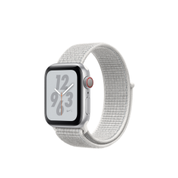 Apple Watch Series 4 Nike+ 40mm GPS+LTE Silver Aluminum Case with Summit White Nike Sport Loop (MTX72)