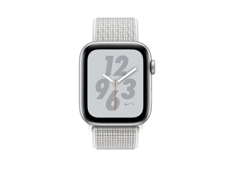 Apple Watch Series 4 Nike+ 40mm GPS Silver Aluminum Case with Summit White Nike Sport Loop (MU7F2)
