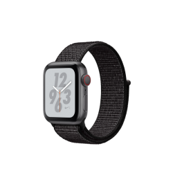 Apple Watch Series 4 Nike+ 40mm GPS+LTE Space Gray Aluminum Case with Black Nike Sport Loop (MTX82)