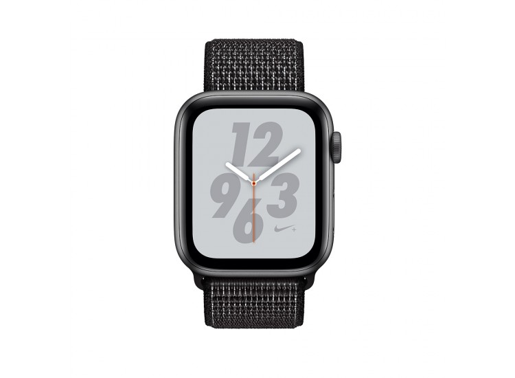 Apple Watch Series 4 Nike+ 40mm GPS Space Gray Aluminum Case with Black Nike Sport Loop (MU7G2)