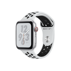 Apple Watch Series 4 Nike+ 44mm GPS+LTE Silver Aluminum Case with Pure Platinum/Black Nike Sport Band (MTXC2)
