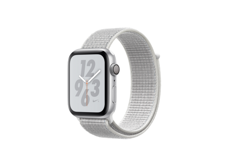 Apple Watch Series 4 Nike+ 44mm GPS Silver Aluminum Case with Summit White Nike Sport Loop (MU7H2)