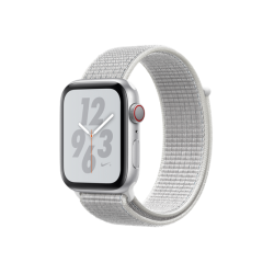 Apple Watch Series 4 Nike+ 44mm GPS+LTE Silver Aluminum Case with Summit White Nike Sport Loop (MTXA2)