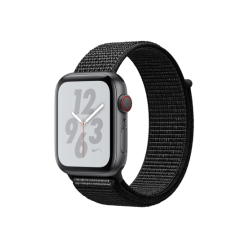 Apple Watch Series 4 Nike+ 44mm GPS+LTE Space Gray Aluminum Case with Black Nike Sport Loop (MTXD2)