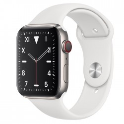 Apple Watch Series 5 Edition 44mm Titanium Case with White Sport Band (MWR62 + MTPK2)