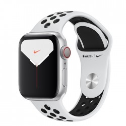 Apple Watch Series 5 Nike+ 40mm GPS + LTE Silver Aluminum Case with Pure Platinum/Black Nike Sport Band (MX372)