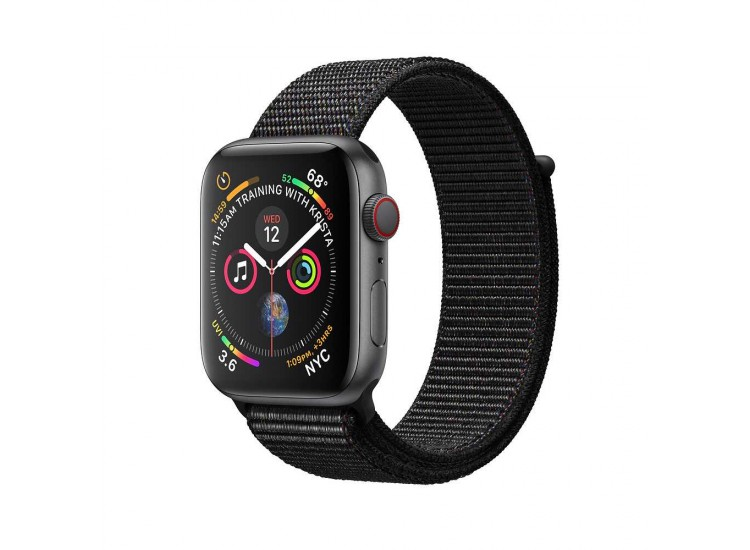 Apple Watch Series 4 40mm GPS+LTE Space Gray Aluminum Case with Black Sport Loop (MTVF2)