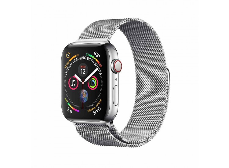 Apple Watch Series 4 44mm GPS+LTE Stainless Steel Case with Milanese Loop (MTV42)