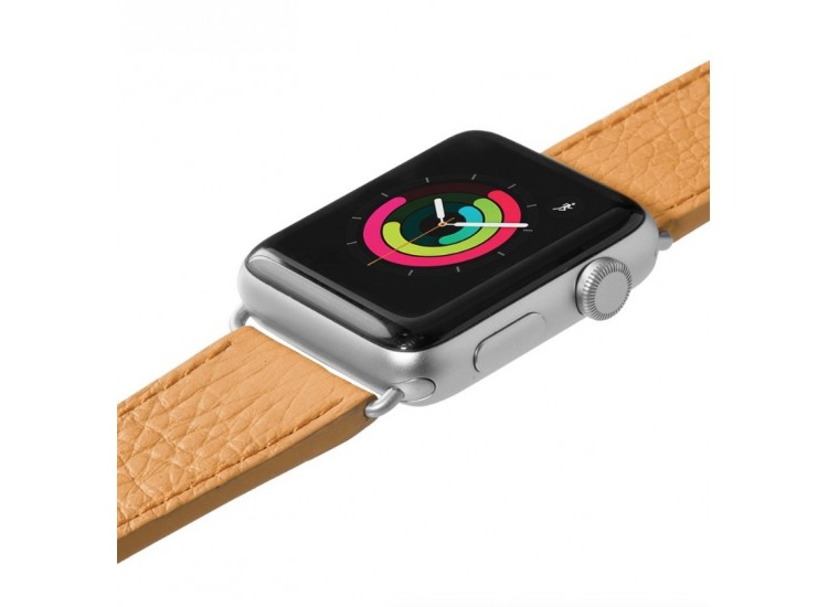 Ремешок для Apple Watch 44mm Laut Milano - Ochre (LAUT_AWL_ML_BR)