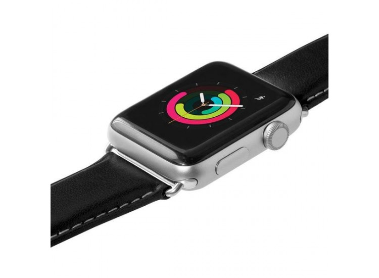 Ремешок для Apple Watch 44mm Laut Oxford - Black (LAUT_AWL_OX_BK)