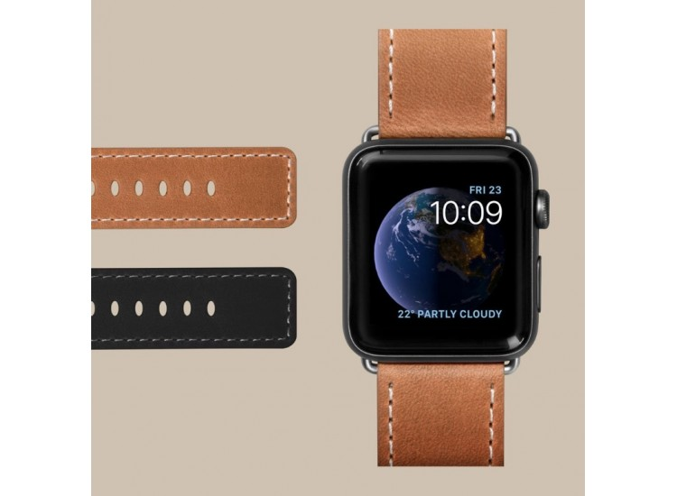 Ремешок для Apple Watch 44mm Laut Safari - Tan (LAUT_AWL_SA_BR)