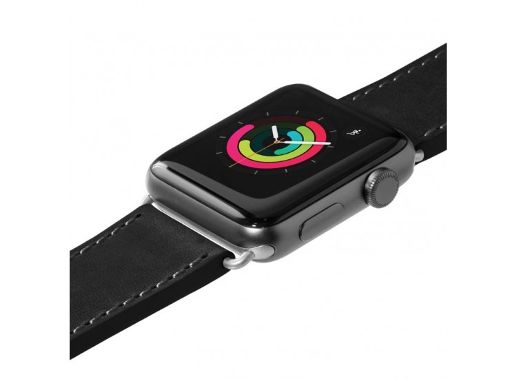 Ремешок для Apple Watch 44mm Laut Safari - Black (LAUT_AWL_SA_BK)