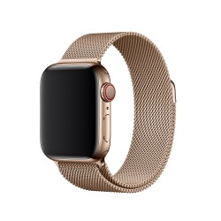 Ремінець для Apple Watch 44mm Milanese Loop - S/M & M/L - Gold (MTU72)