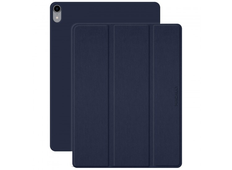 Macally Smart Folio for 12.9-inch iPad Pro - Blue (BSTANDPRO3L-BL)