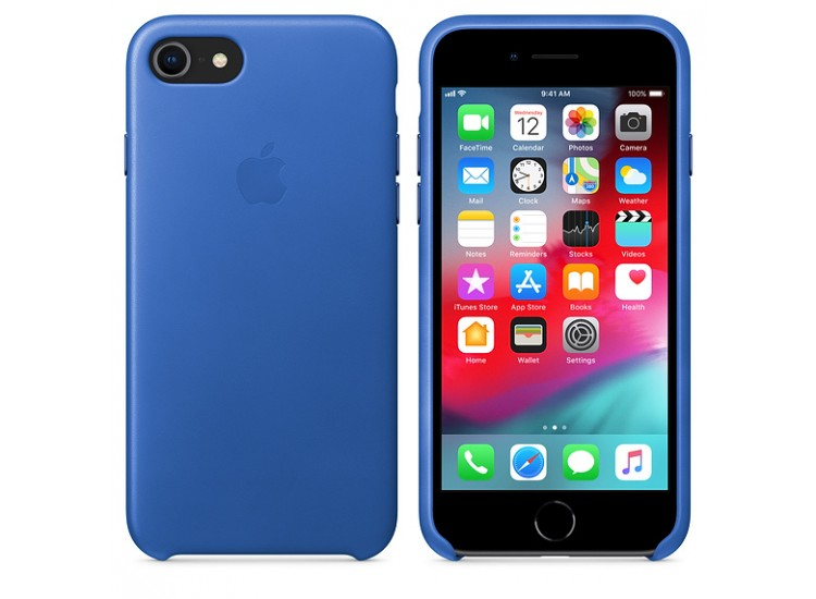iPhone 8 / 7 Leather Case (Electric Blue)