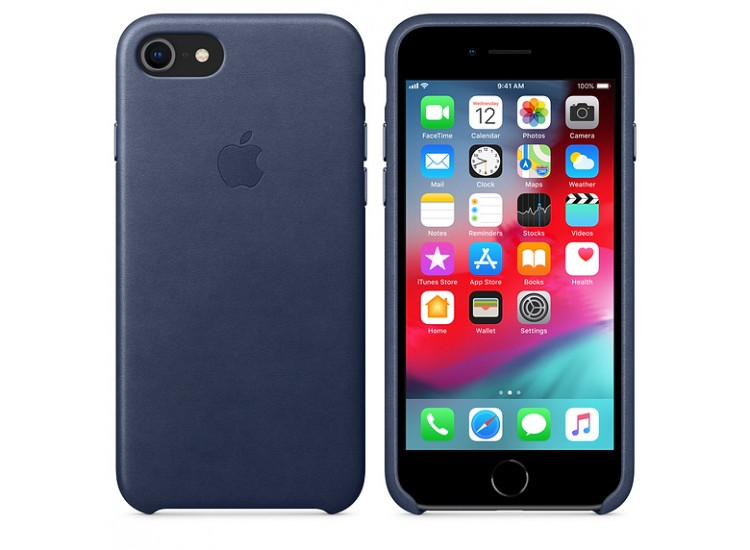 iPhone 8 / 7 Leather Case (Midnight Blue)