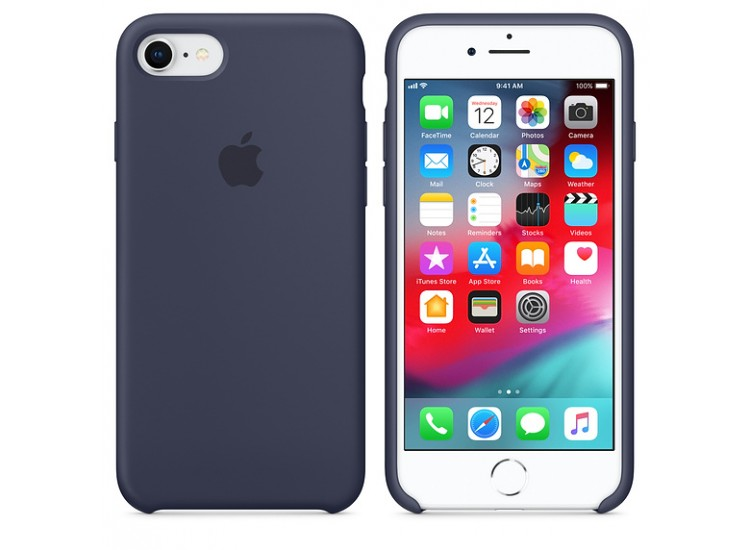 iPhone 8 / 7 Silicone Case - Midnight Blue