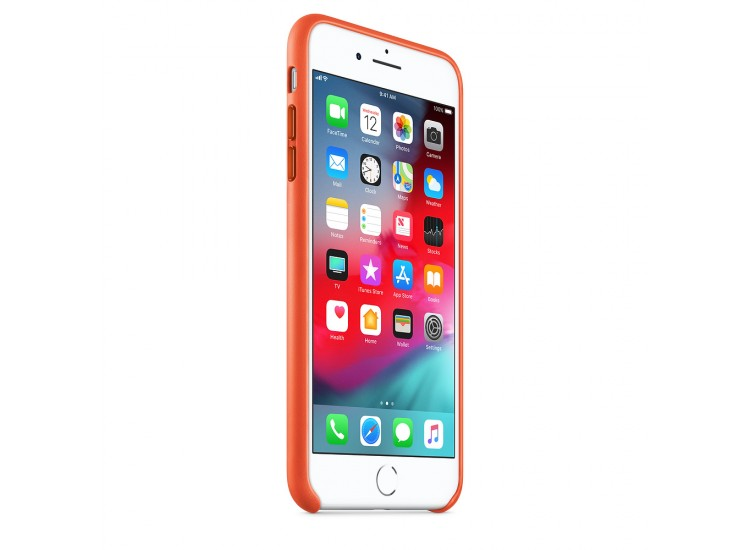iPhone 8 Plus / 7 Plus Leather Case (Bright Orange)