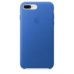 iPhone 8 Plus / 7 Plus Leather Case - Electric Blue
