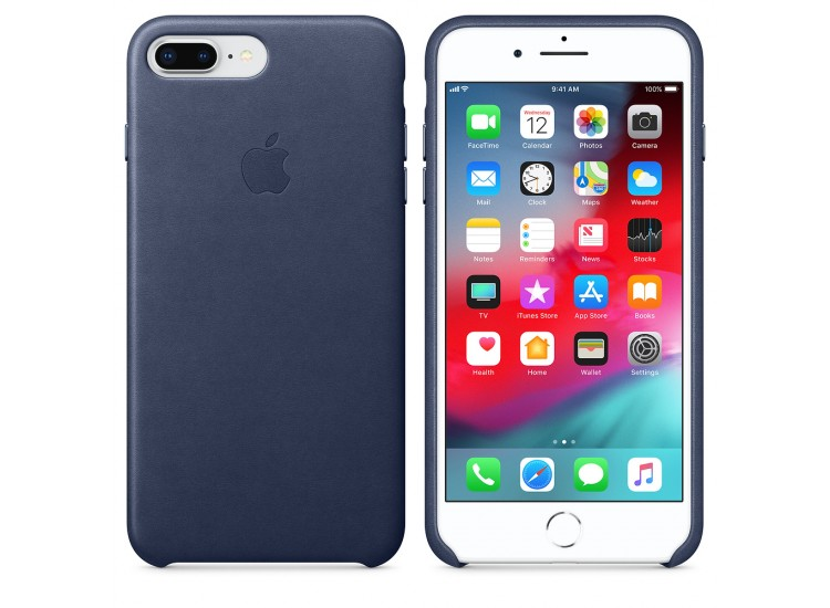 iPhone 8 Plus / 7 Plus Leather Case - Midnight Blue