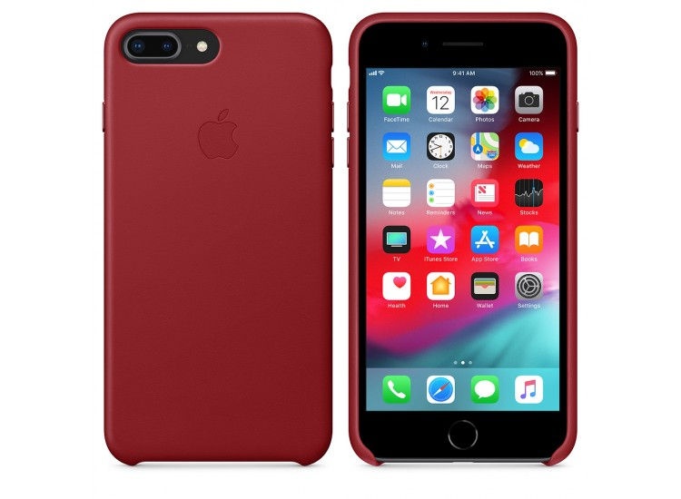 iPhone 8 Plus / 7 Plus Leather Case - (PRODUCT) RED