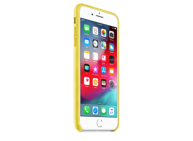 iPhone 8 Plus / 7 Plus Leather Case - Spring Yellow