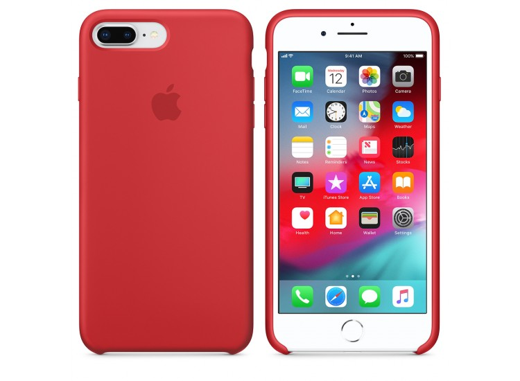 iPhone 8 Plus / 7 Plus Silicone Case - (PRODUCT) RED