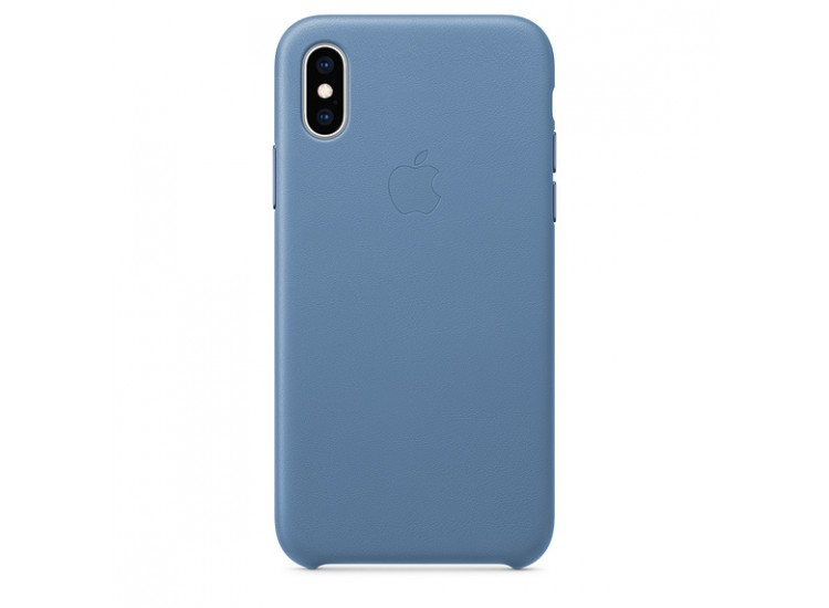 iPhone XS Leather Case (Cornflower)