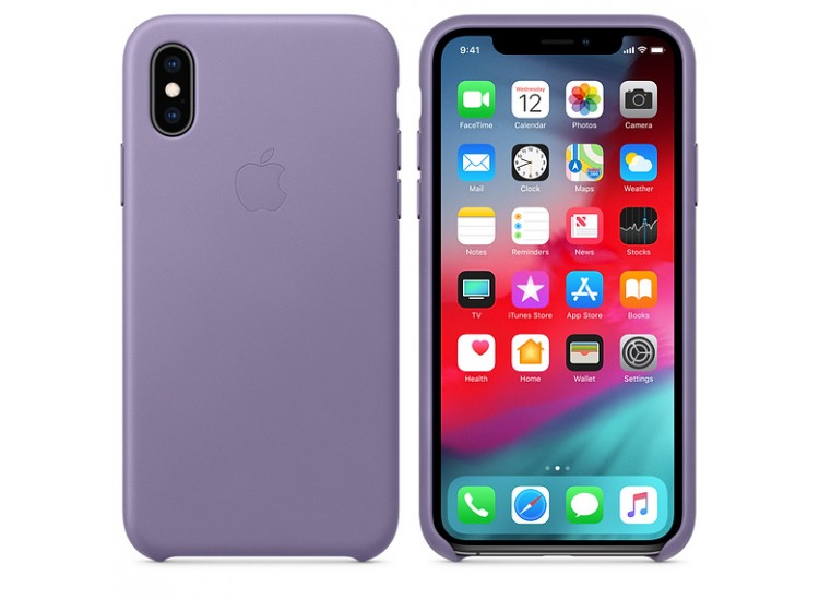 iPhone XS Leather Case (Lilac)