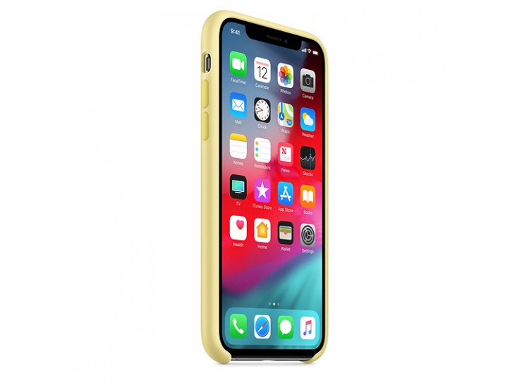iPhone XS Silicone Case (Mellow Yellow)