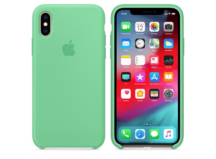 iPhone XS Silicone Case (Spearmint)
