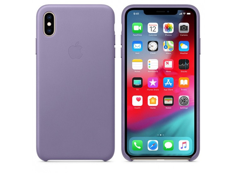 iPhone XS Max Leather Case - Lilac