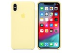 iPhone XS Max Silicone Case (Mellow Yellow)