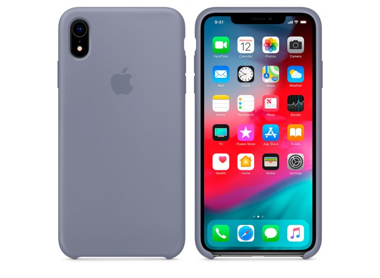 iPhone XR Silicone Case - Lavender Gray
