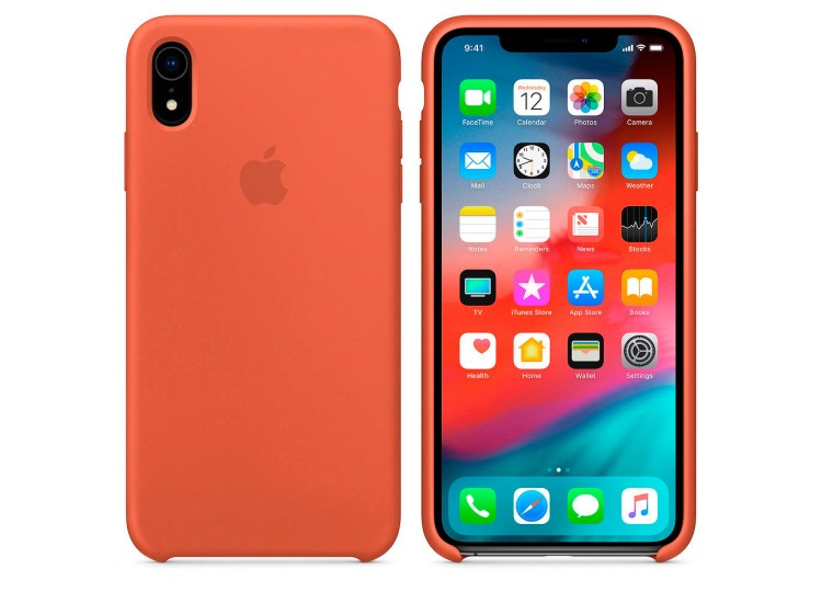 iPhone XR Silicone Case - Nectarine
