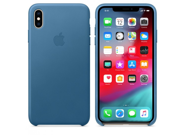 iPhone XS Max Leather Case (Cape Cod Blue)