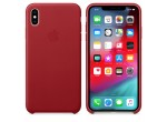iPhone XS Max Leather Case - Red