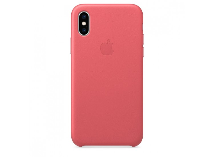iPhone XS Leather Case (Peony Pink)
