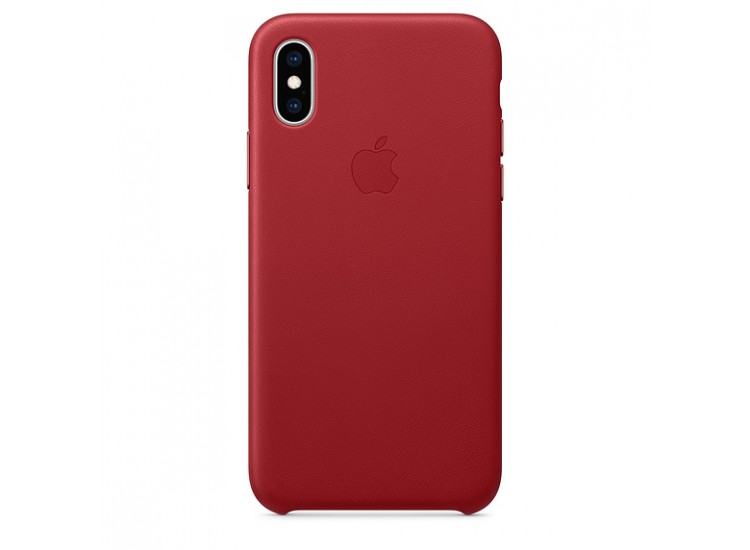 iPhone XS Leather Case - (PRODUCT) RED