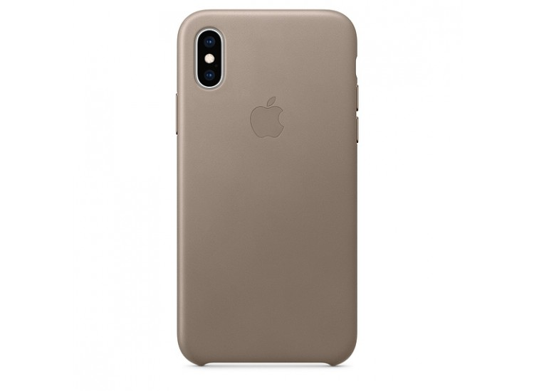 iPhone XS Leather Case (Taupe)