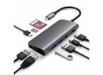 Satechi Aluminum Type-C Multimedia Adapter Space Gray (ST-TCMM8PAM)