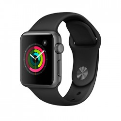 Apple Watch Series 1 38mm Aluminum Case with Black Sport Band (MP022)