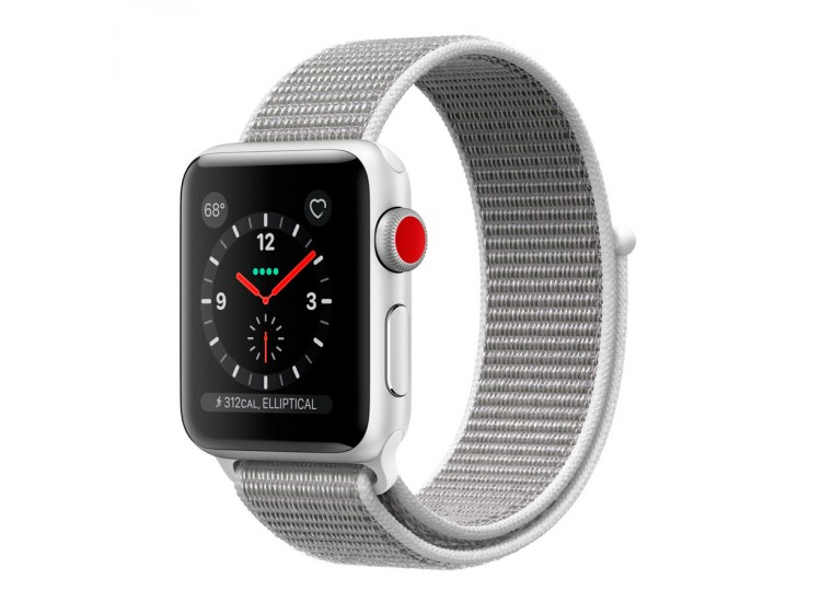 Apple Watch Series 3 38mm GPS+LTE Stainless Steel Case with Milanese Loop (MR1F2)