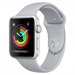 Apple Watch Series 3 38mm GPS Silver Aluminum Case with Fog Sport Band (MQKU2)