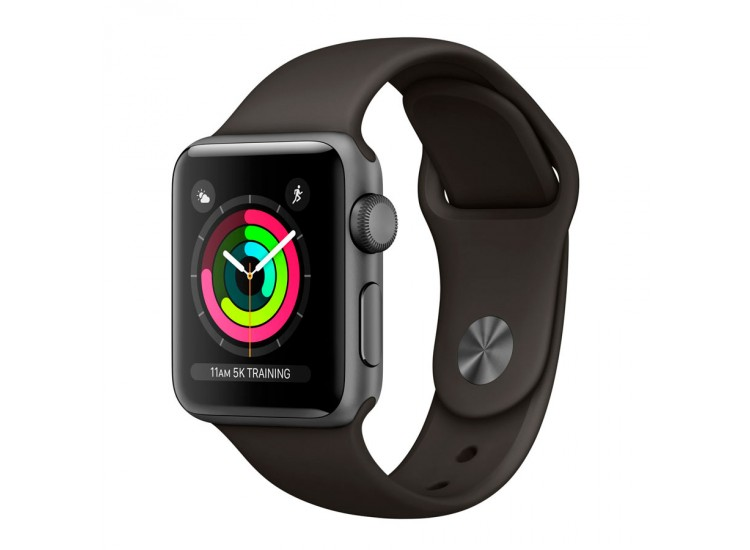 Apple Watch Series 3 42mm GPS Space Gray Aluminum Case with Gray Sport Band (MR362)