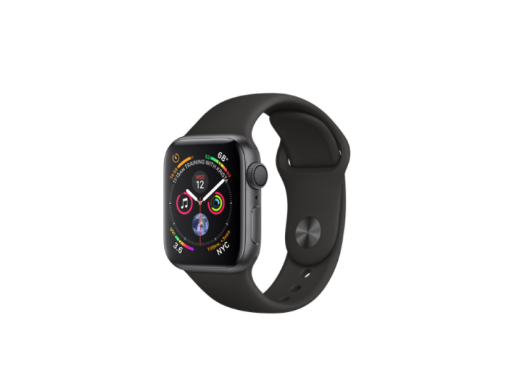 Apple Watch Series 4 40mm Space Grey Aluminium Case with Black Sport Band (MU662)