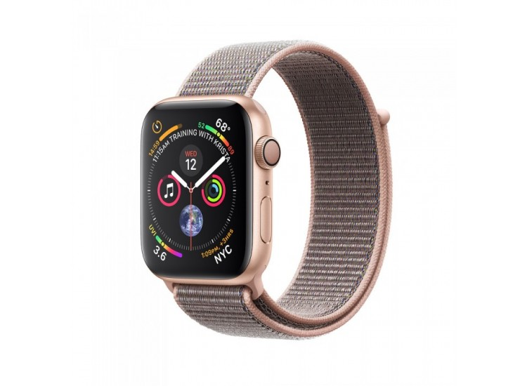 Apple Watch Series 4 40mm Gold Aluminium Case with Pink Sand Sport Loop (MU692)